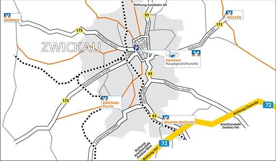 Zwickau Karte.Geschäftsstellen Volksbank Zwickau Eg